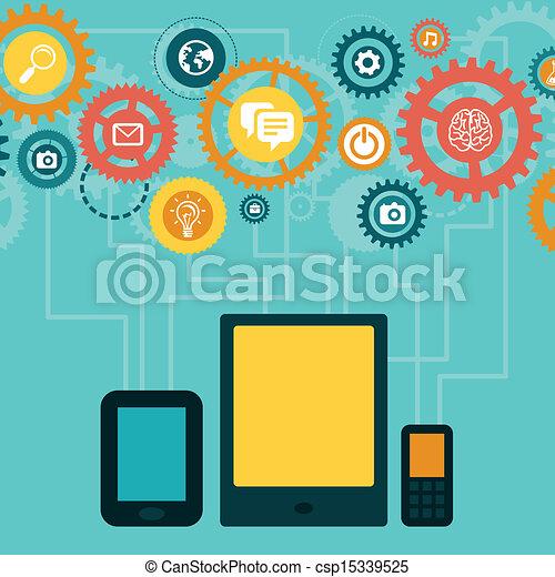 Vector concept - mobile app develop - csp15339525