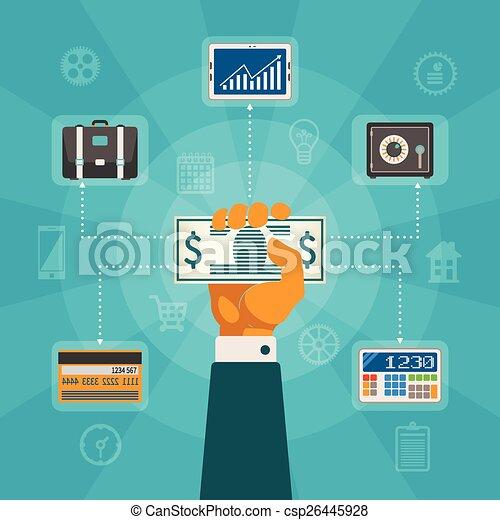 Vector concept of online banking - csp26445928
