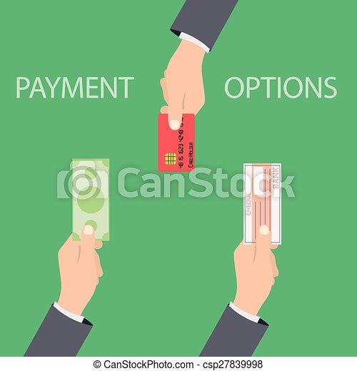 Vector concept of payment options in flat style - csp27839998