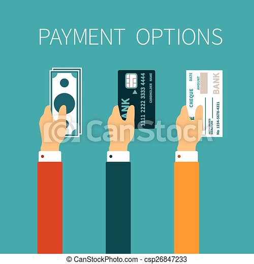 Vector concept of payment options in flat style - csp26847233
