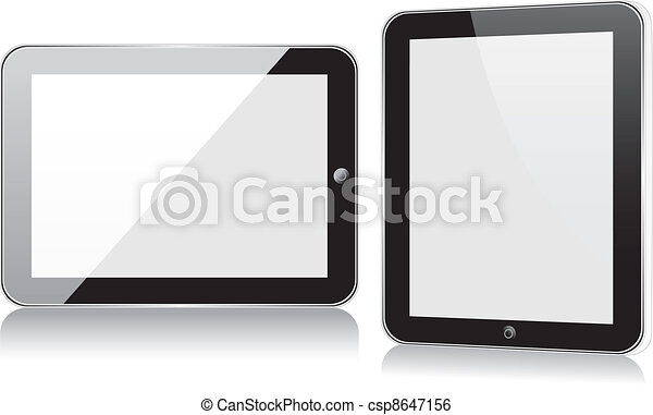 Vector concept tablet  PS, IPAD. No transparency effects. EPS8 Only - csp8647156