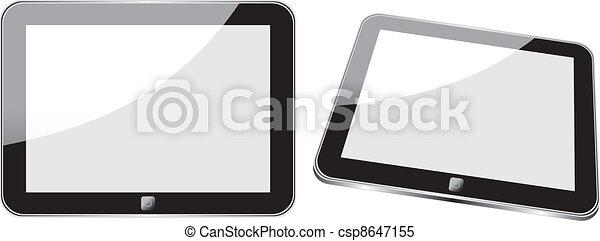 Vector concept tablet  PS, IPAD. No transparency effects. EPS8 Only - csp8647155