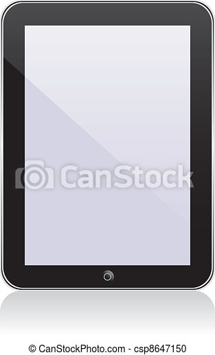 Vector concept tablet  PS, IPAD. No transparency effects. EPS8 Only - csp8647150