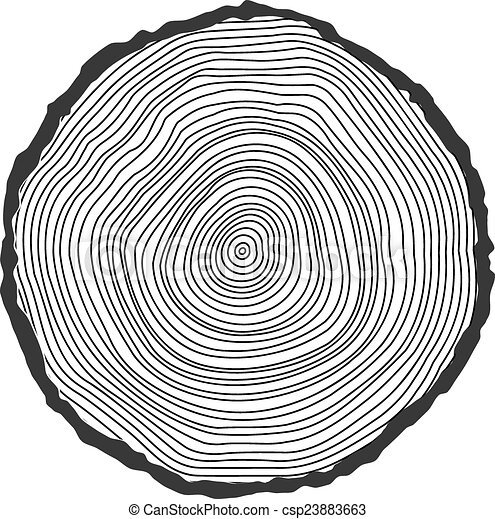 Vector conceptual background with tree-rings.  - csp23883663