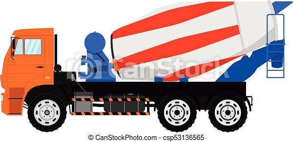 vector concrete mixer truck isolated on white background clip rh canstockphoto co uk concrete mixer clipart concrete mixer clipart