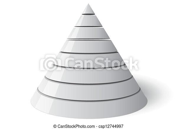 Vector Cone Eight Levels, Vectorial 3d Shape - csp12744997