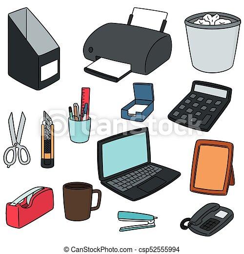 Vector conjunto accesorios oficina for Accesorios de oficina