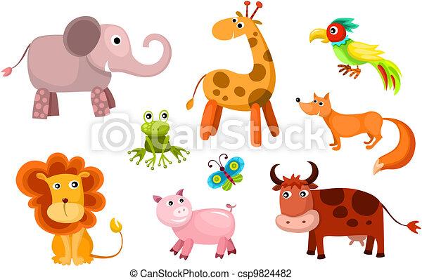 Animales vector listos - csp9824482