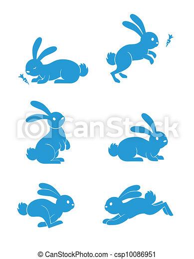 Conejo fijó el vector - csp10086951