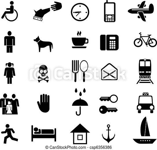 Set de iconos vectores - csp6356386