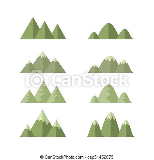 Moutains, vector de dibujos animados - csp51452073