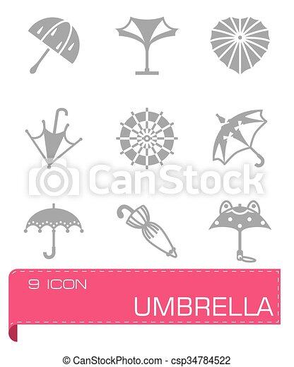 Icono Vector paraguas - csp34784522
