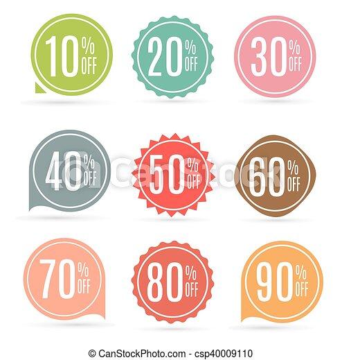 La etiqueta de venta marca vector de ilustración - csp40009110