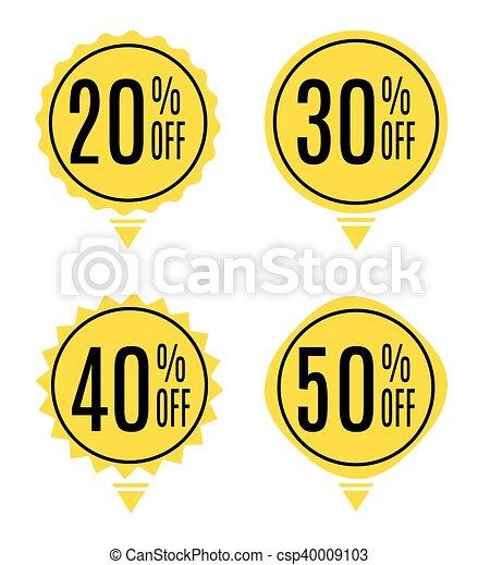 La etiqueta de venta marca vector de ilustración - csp40009103