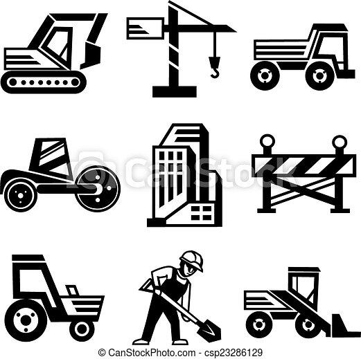 Vector Construction Icons Set - csp23286129