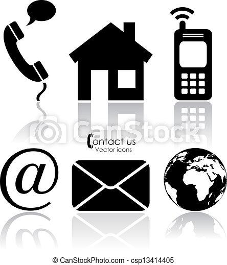 Vector contact icons - csp13414405