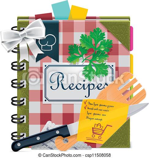 Vector cooking book XXL icon - csp11508058