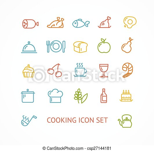 Vector cooking outline icon set - csp27144181
