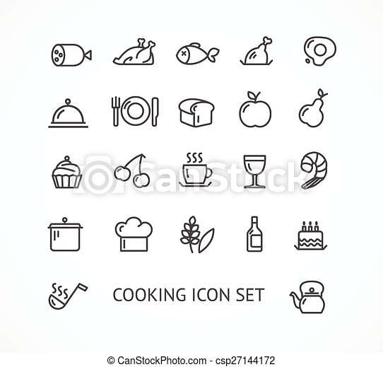 Vector cooking outline icon set - csp27144172
