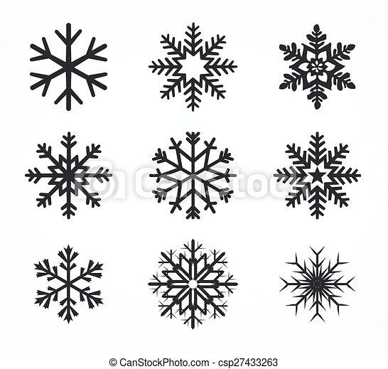 Colección de copos de nieve Vector - csp27433263