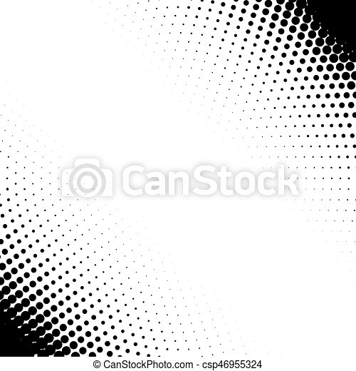 Vector Corner Design Elements With Halftone Effect Isolated On