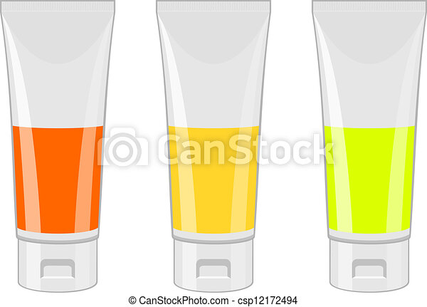 Vector cosmetic containers - csp12172494