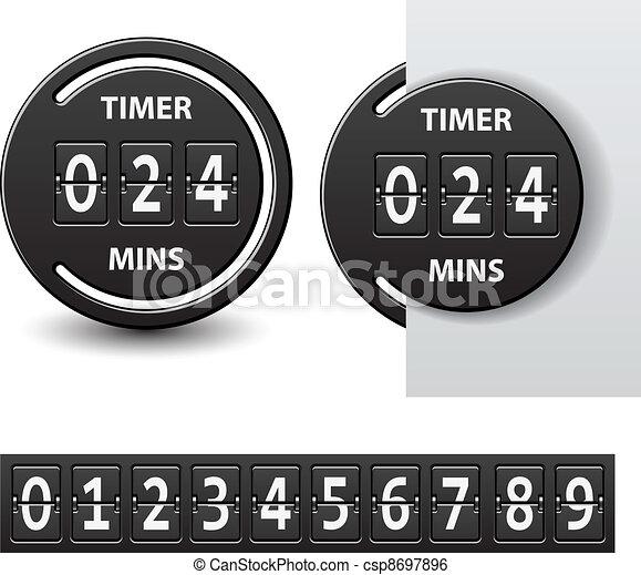 vector countdown round mechanical timer - csp8697896