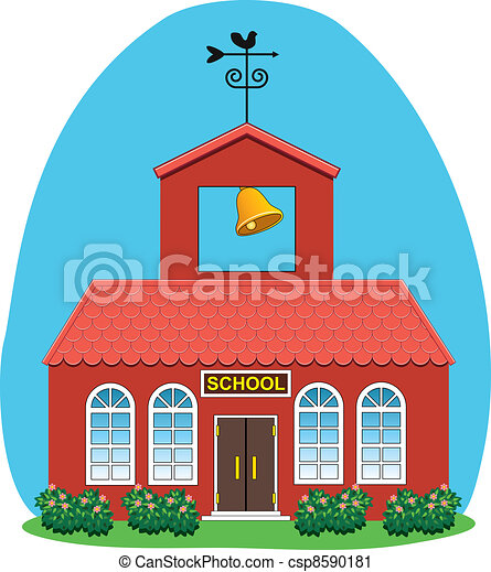 vector country school house  - csp8590181