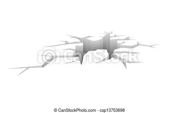 Vector crack - csp13753698