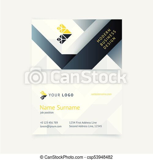 Vector creative business card template with gray triangles stripes vector creative business card template with gray triangles stripes textures for business wajeb Choice Image