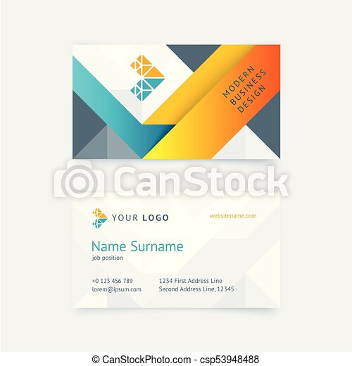 Vector creative business card template with orange vector vector creative business card template with orange triangles gray textures for business fbccfo Gallery