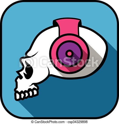 vector creative dj skull illustration side view eps vectors search rh canstockphoto com dj victor dj victor aguilar