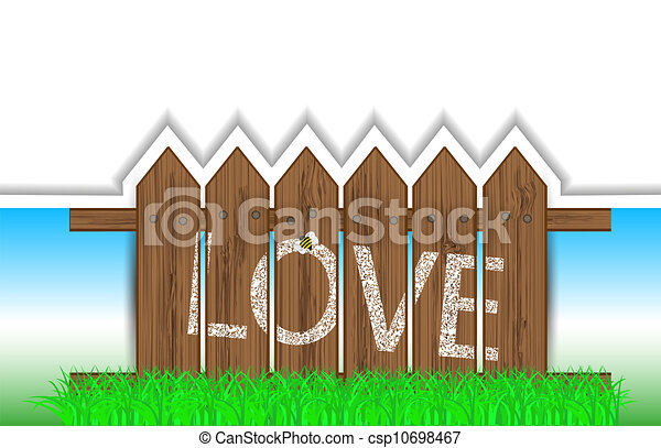 vector creative fence background with place for your text. Eps 10 - csp10698467