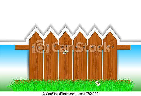 vector creative fence background with place for your text. Eps10 illustration - csp10754320