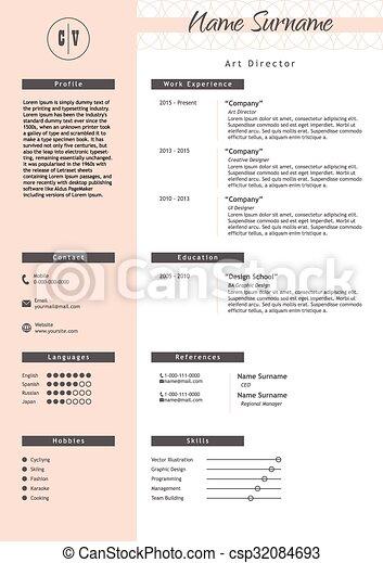 vector creative resume template minimalist style cv infographic elements