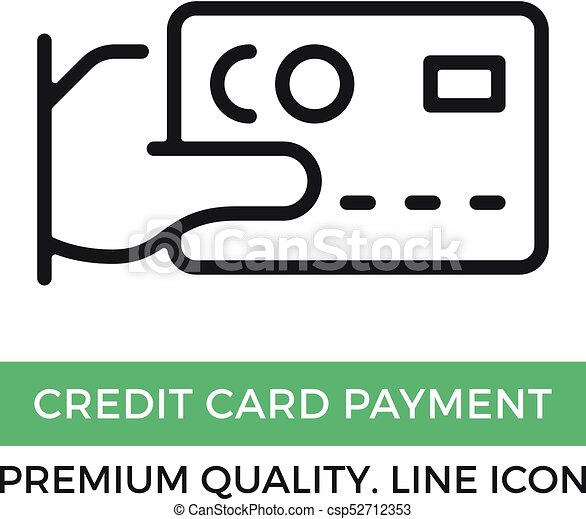 vector credit card payment icon hand holding credit card rh canstockphoto ie credit card clip art images visa credit card clipart
