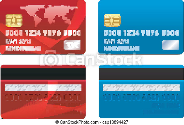 Vector Credit Card Template Front And Back Side