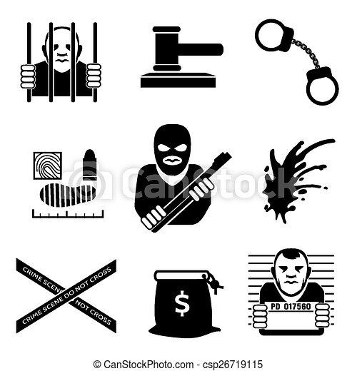 vector criminal law and justice legal and prison handcuff rh canstockphoto com Criminal Justice Graphics Criminal Justice Symbols