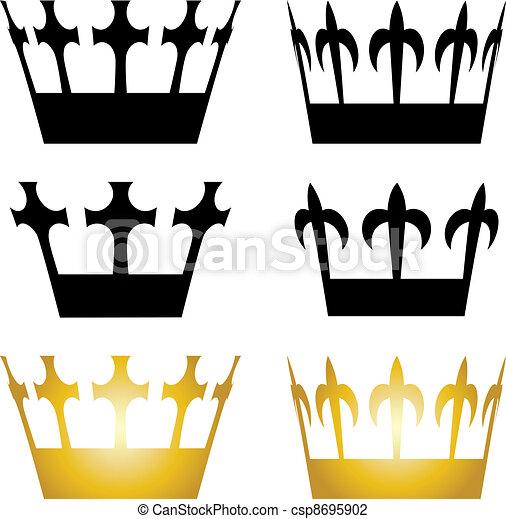 vector crown symbols rh canstockphoto com free vector crown of thorns free vector crown logo
