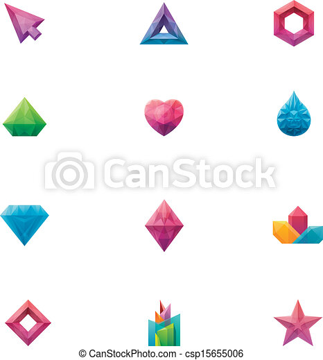 Vector crystals set - csp15655006