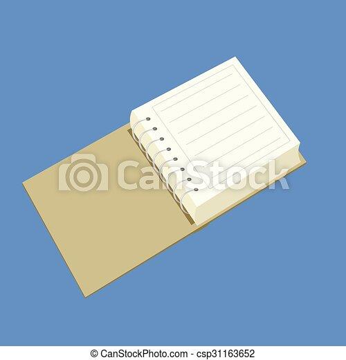 Cuaderno de vector para el cargo - csp31163652
