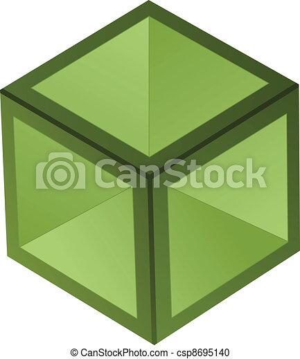 Vector 3d cubo - csp8695140
