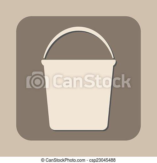 Icono vector Bucket - csp23045488