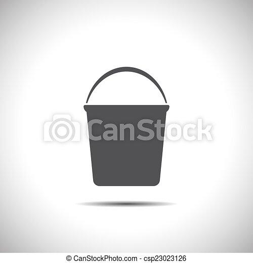 Icono vector Bucket - csp23023126
