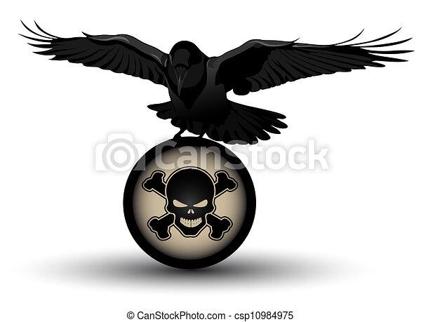 Vector cuervo - csp10984975