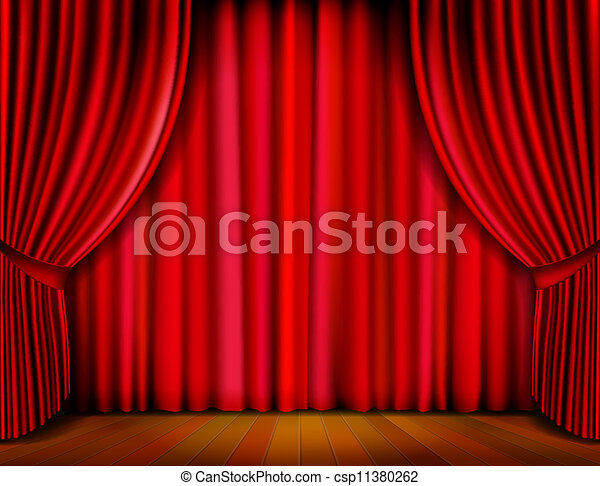 Vector Curtain - csp11380262