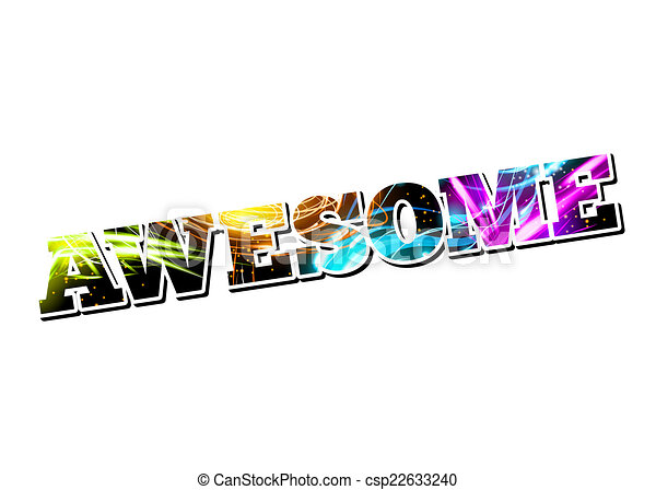 vector customizable light effect word awesome drawing search clip rh canstockphoto com Store Sign Clip Art Fabulous Job Clip Art