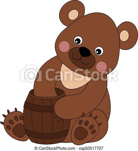 vector cute cartoon bear vector cute cartoon baby bear with rh canstockphoto ca bear vector free bear vector illustration