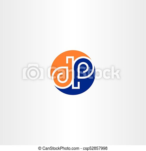Vector D And P Letter Logo Icon Circle Symbol Design