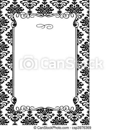 Vector damask frame. Vector floral frame. easy to scale and edit ...
